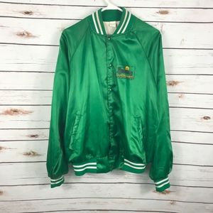Mens Varsity Jacket The Untouchables Green Satin